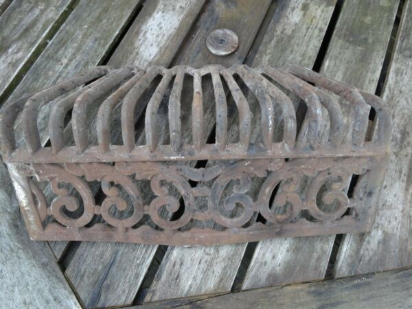 ANTIQUEVINTAGE FIREPLACE GRATE CAST PART FOR FIREPLACE INTERIOR