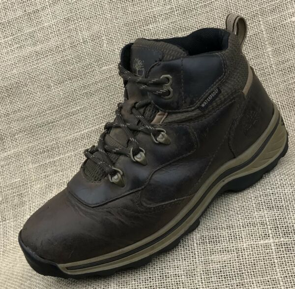 Timberland boys boots youth hiking waterproof leather size 3.5 $24.99