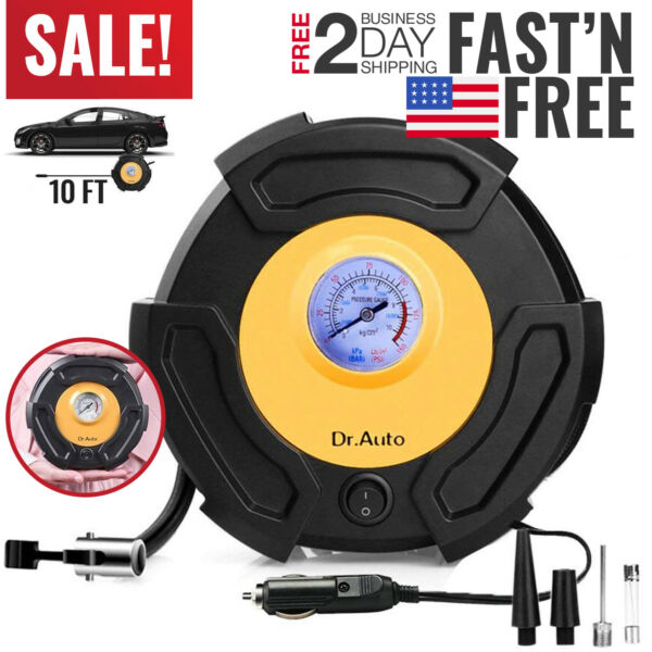 Tire Inflator Car Air Pump Compressor Electric Portable Auto 12V Volt 100 PSI