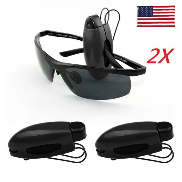 US 2X Car Sun Visor Glasses Sunglasses Ticket Receipt Card Clip Storage Holder