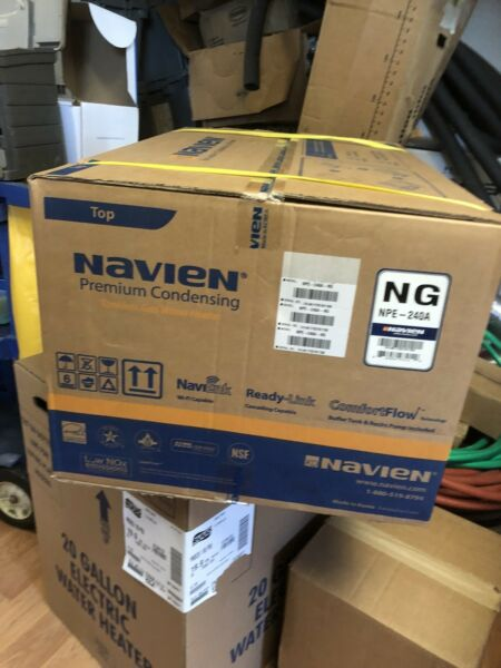 1-Navien Condensing Tankless House Hot Water Heater NPE-240A Tank Less NGLP
