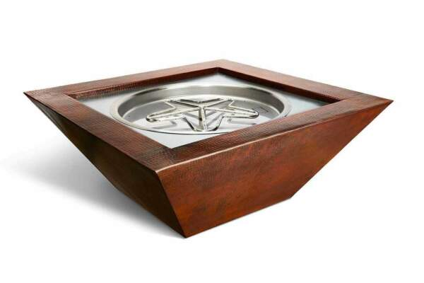 HPC Sedona Copper Fire Pit Bowl Electronic Ignition Natural Gas 24VAC 40quot;