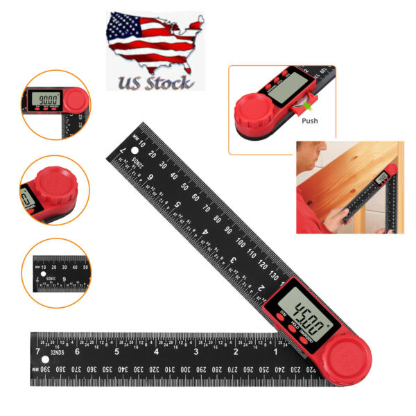 0-360° Magnetic Digital Protractor Angle Finder Bevel Level Box Inclinometer