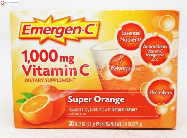 Emergen-C Vitamin C 1000mg Orange 30ct