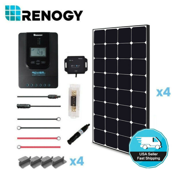 Renogy 400W Eclipse Solar Panel Premium Kit 40A MPPT 12V 24V Battery Charger RV