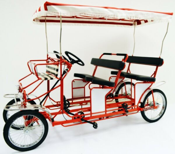 Four Person Surrey Cycle 4 Wheel Surrey Bike 4 Person Bicycle Quadricycle $2695.00