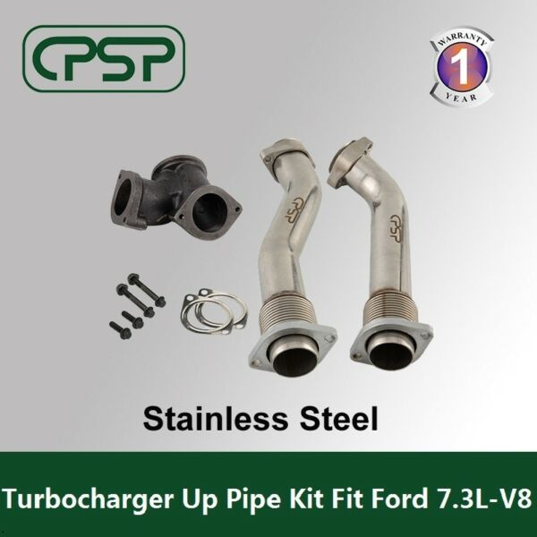 7.3L Ford Powerstroke 99.5-03 Bellowed Turbo Diesel  Exhaust Up Pipes