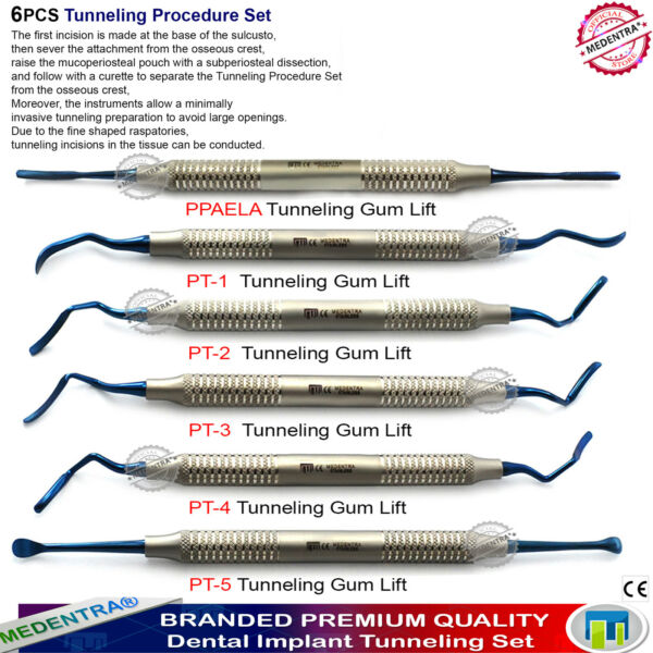 8PC Gum Tissue VT Tunneling Procedure PPAELA Implant Dental MEDENTRA Premium Kit