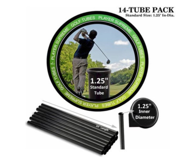 Golf Club Tubes Bag Putter Dividers Organizer Protector Tube 14-Pack 1.25