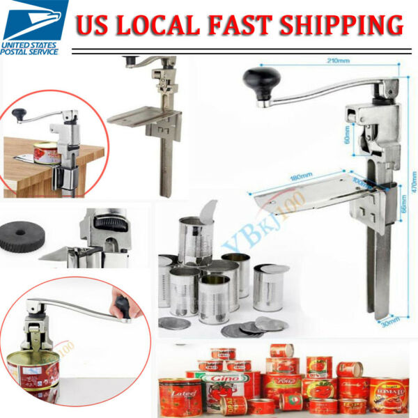 Heavy Duty Bench Top Cast Steel Large Can Opener for Commercial Catering US SHIP