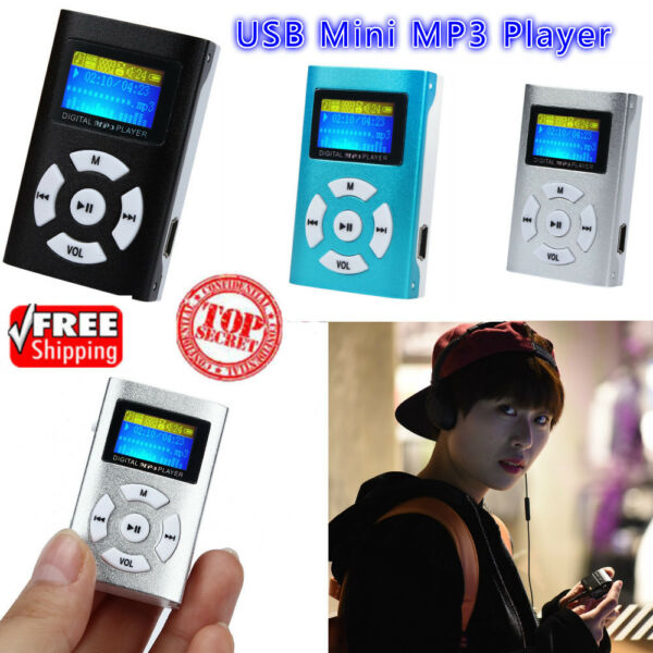 Mini Metal MP3 Player USB Rechargeable LCD Screen Support 32GB Micro SD TF Card