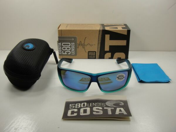 COSTA DEL MAR POLARIZED SUNGLASSES CAT CAY CARIBBEAN/BLUE GLASS 580G AT73 OBMGLP