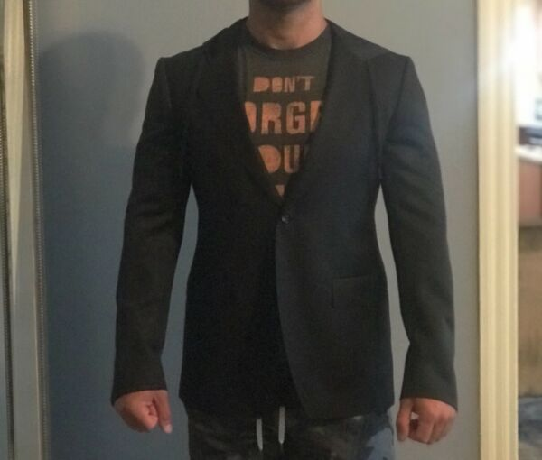 Men New black Moschino jacket size 52 with hoodie $550.00