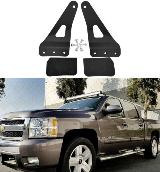 NEW Mounting Bracket for Chevy GMC 52quot; Straight LED Bar Upper Windshield 99 13
