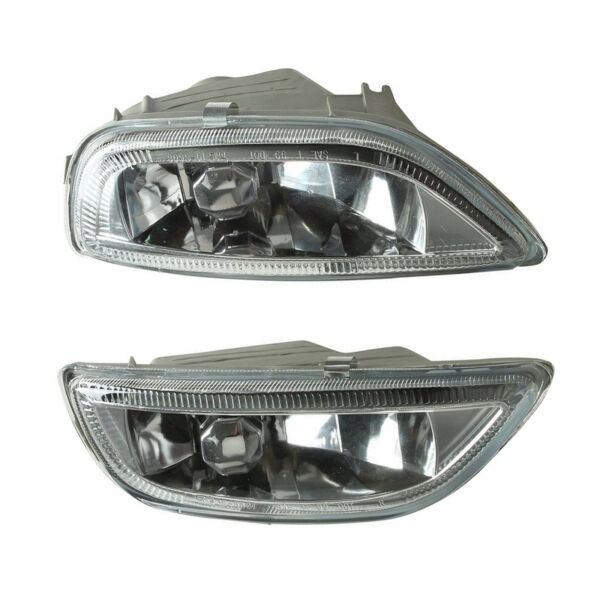 Pair Front Bumper Glass Fog Lights Lamps L&R For Toyota Corolla 2001-2002