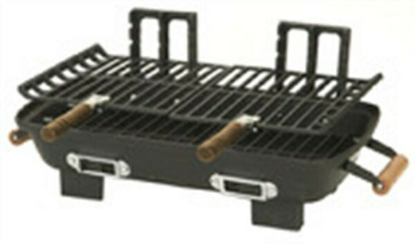 Marsh Allen 30052 Black Cast Iron Charcoal Hibachi Grill 10 x 18 in.