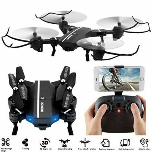 8807W Wifi FPV 2MP Foldable HD Camera Drone UFO Gyro 2.4G 6-Axis RC Quadcopter
