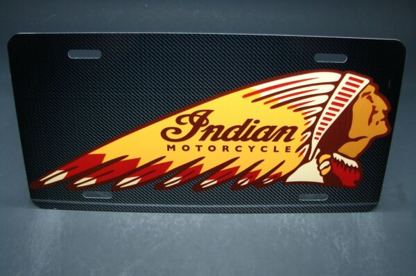INDIAN MOTORCYCLES METAL ALUMINUM LICENSE PLATE FOR CARS AND TRUCKS