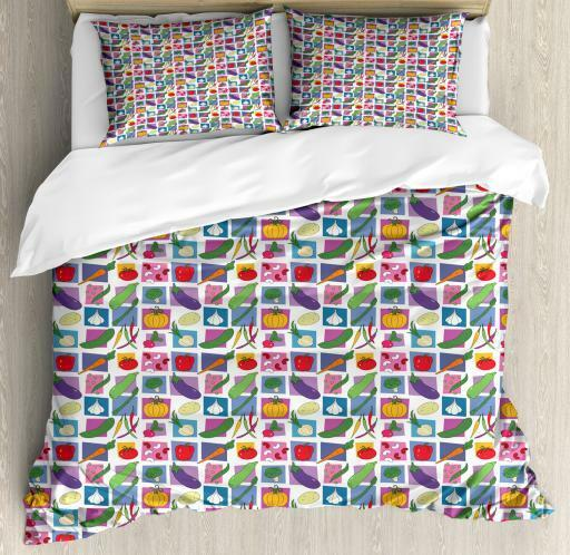 Fresh Produce Duvet Cover Set Twin Queen King Sizes with Pillow Shams