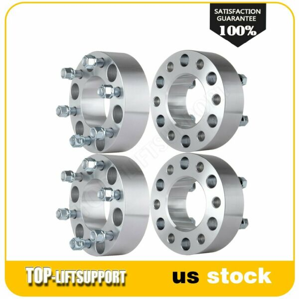 4Pcs 2quot; 50mm Wheel Spacers 6x135 14x2 Studs for 2004 2014 Ford F 150 Expedition