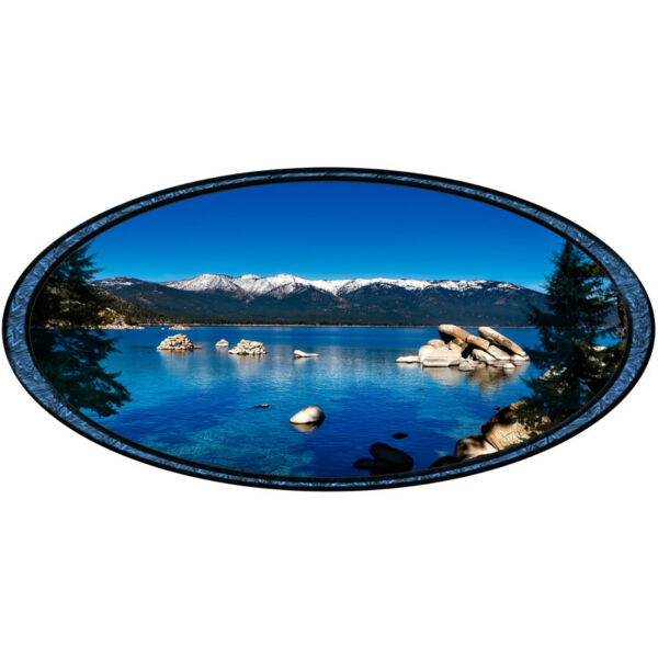 Lake Tahoe Mountains Snow Oval Decal America truck Camper RV motorhome trailer $15.00