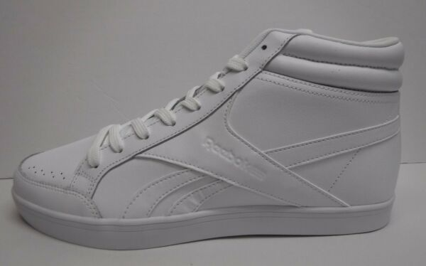 Reebok Size 10.5 White High Top Sneakers New Womens Shoes