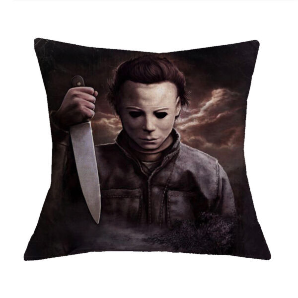 Michael Myers Custom Cotton Linen Throw Pillow Case Halloween Decor