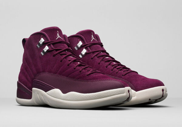 * New AIR JORDAN 12 XII RETRO BORDEAUX SAIL METALLIC SILVER sz 10.5 * 130690 617