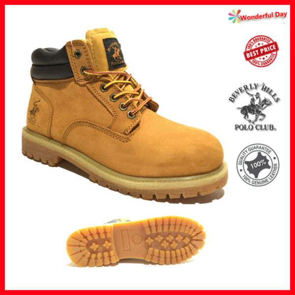 Mens Winter Snow Work Boots Shoes Genuine Leather Waterproof 2016