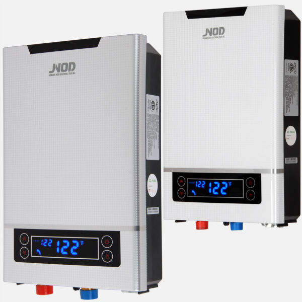 27KW Tankless Electric Heater Whole House On Demand Hot Water LED Touch 240V