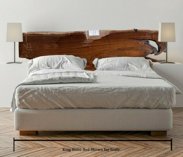 Black Walnut Wood Slab Headboard Rustic Custom Natural Live Edge DIY Raw 5984a15