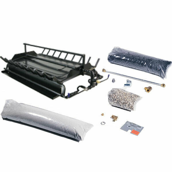 Rasmussen See-Through Multi-Burner and Grate Kit Natural Gas 24-Inches