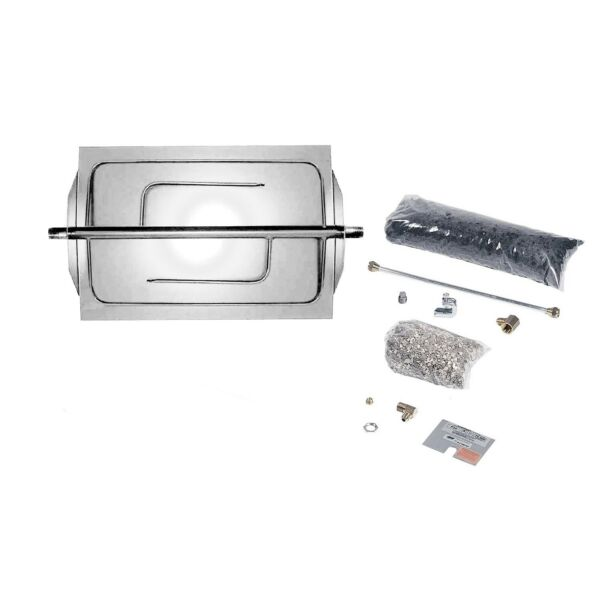 Rasmussen Custom Embers Stainless Steel Outdoor Fireplace Burner Kit Propane 3