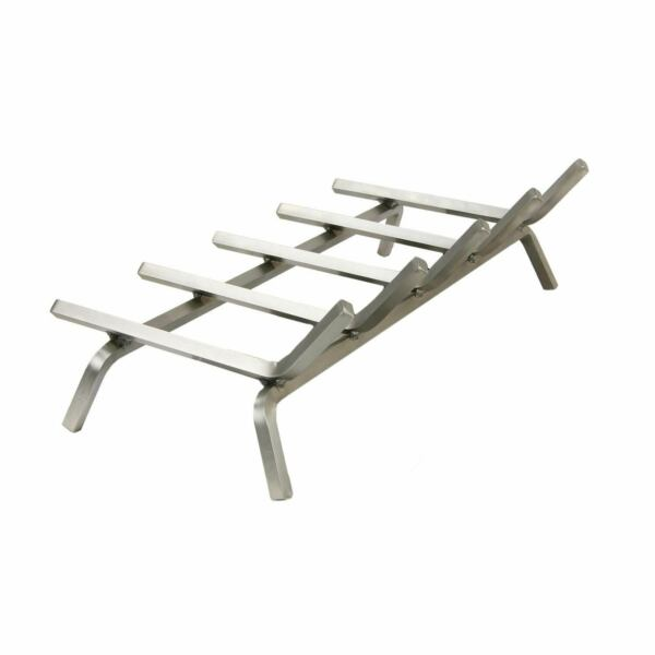Rasmussen Single Sided Gas Log Grate Stainless Steel 36-Inches