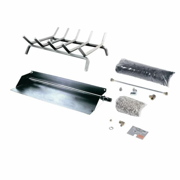 Rasmussen Flaming Ember Stainless Steel Burner and Grate Kit Natural Gas 24.37