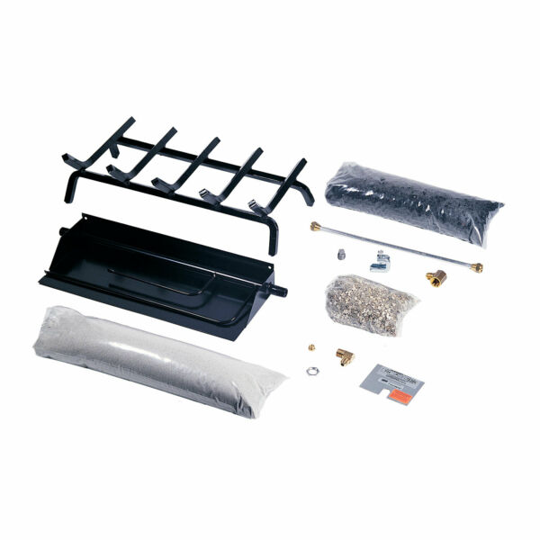 Rasmussen Flaming Ember XTRA Burner and Grate Kit Natural Gas 24.375