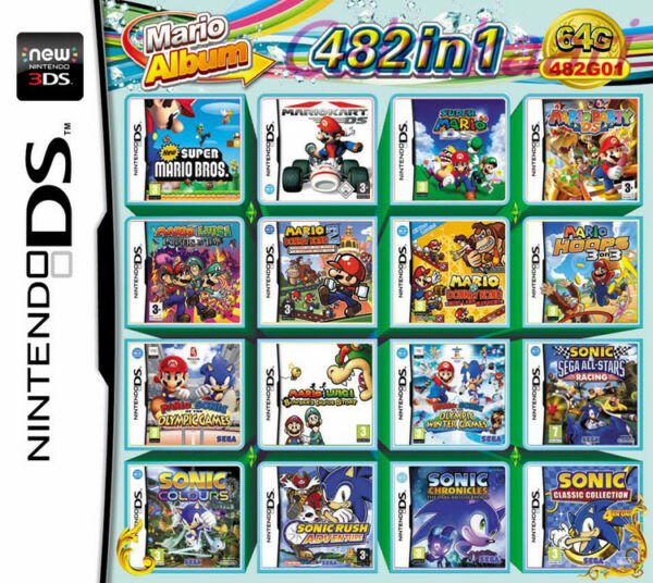 New 482 In 1 Video Game card Multi Cartridge For Nintendo DS NDS NDSL NDSi 3DS