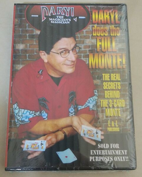 Brand New Sealed DVD Daryl Does 3 Card Monte Tricks Best Close up Card Magic $17.99