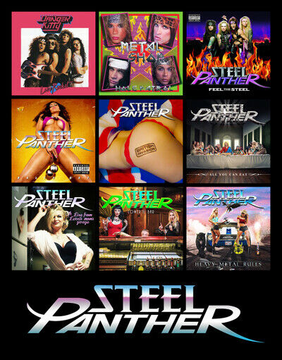 STEEL PANTHER album discography magnet (4.5