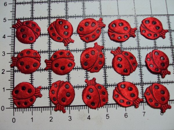 Small Red Ladybirds Sew-On for TrimmingAppliques (16mm x 14mm-Approx)