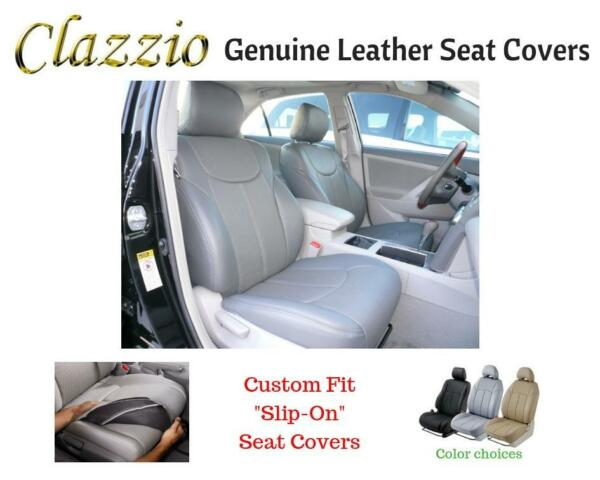 Clazzio Genuine Leather Seat Covers for 2004-2009 Toyota Prius Gray