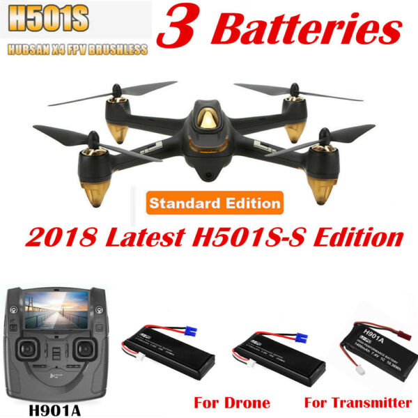 Hubsan X4 H501S Drone Brushless 1080P FPV RC Quadcopter Altitude Follow Me GPS