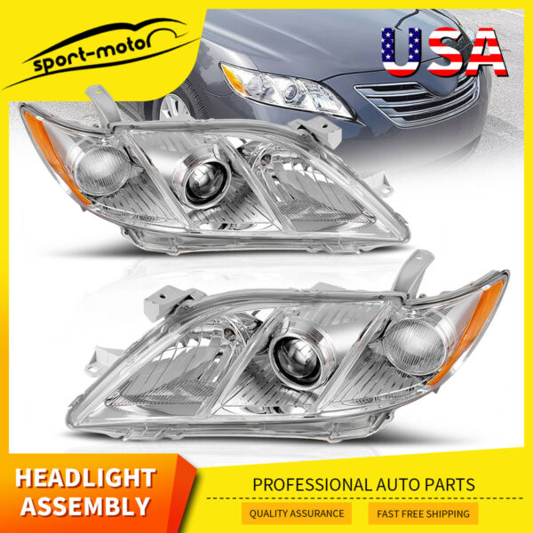 Headlights Assembly for 2007-2009 Toyota Camry Projector Headlamps Replacement