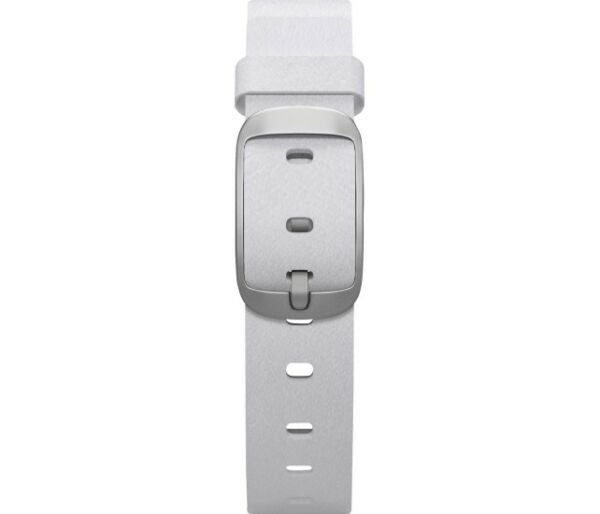Pebble - Leather Band for 14mm Pebble Time Round Smartwatches - White