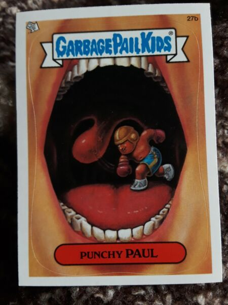 Garbage Pail Kids All-New Series ANS 1 27b Punchy Paul Blue Line Error