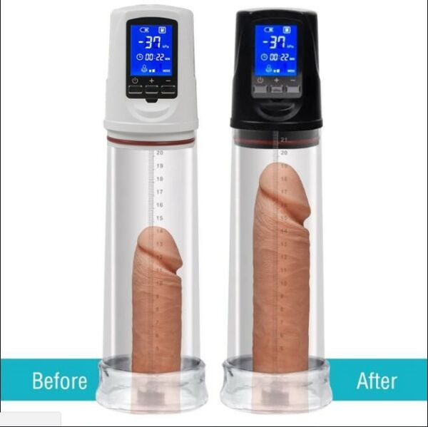 Electric Penis Pump Enlargement USB Automatic LCD Extender Enhancer and Sleeve