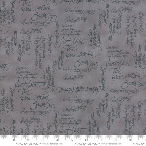 Sno by Hatling Grey Words 39720 17 Moda Fabric Christmas by the 1 2 yard