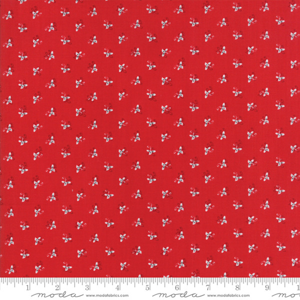 Sno by Hatling Red Floral 39724 16 Moda Fabric Christmas by the 1 2 yard