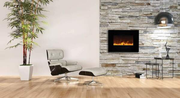 Amantii Wall Mount Flush Mount Series Electric Fireplace 36quot;
