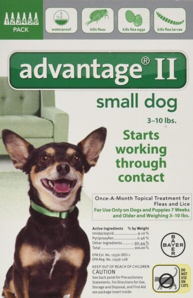 READ ABOUT FAKES 6Pk Bayer Advantage II Flea Control Small DOGS 3-10 lbs 8+ WKS